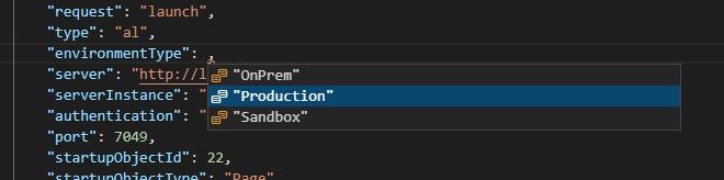 Environment Type settings on Visual Studio Code